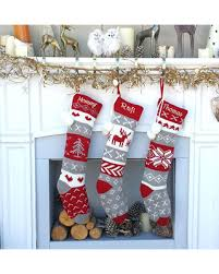 knitted christmas deal on grey white fair isle personalized large 22