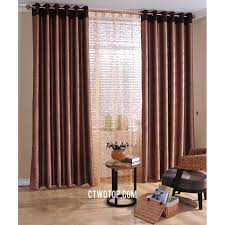 brown casual cheap patterned simple long curtains ideas