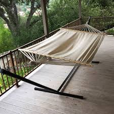 double hammock tree 2 people person patio bed swing new cotton