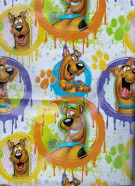 scooby doo gift wrap wrapping paper brown health