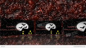 trick or treat haunted house halloween blood stock animation