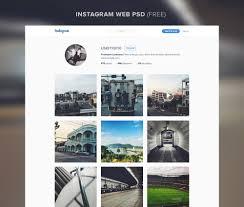 download instagram layout app instagram website template free psd download download psd