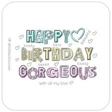 happy birthday gorgeous cute animated birthday card for girls