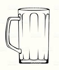 beer glass svg best empty beer mug vector image