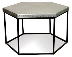 Hammered Metal Table L Hammered Metal Hexagon Coffee Table By Riverside Furniture Wolf