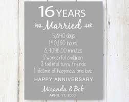 16th wedding anniversary gifts 12th anniversary gift 12 years of wedding anniversary