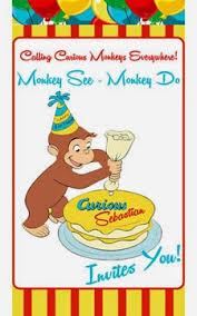 ecoleeko curious george diy birthday party invitations