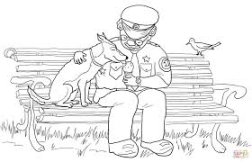 officer buckle sharing icecream with gloria coloring page free