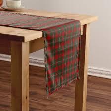 scottish clan ross tartan plaid table runner