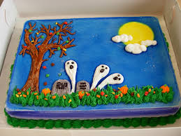halloween ghost in the graveyard dq dairy queen ice cream cake