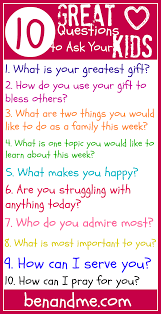 Great Questions To Ask A Q Is For 10 Great Questions To Ask Your Ben And Me