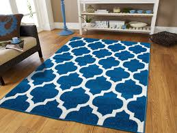8x10 White Rug Amazon Com New Fashion Luxury Morrocan Trellis Rugs Blue And