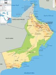 Asia Physical Map Physical Map Of Oman Ezilon Maps