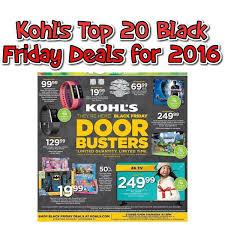 best deals kohls black friday top 20 kohls black friday best deals for 2016 super http