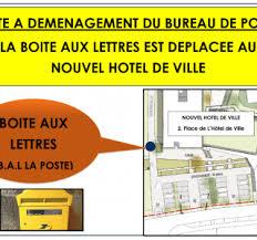 bureau de poste hotel de ville déplacement de la boîte aux lettres du bureau de poste la mairie