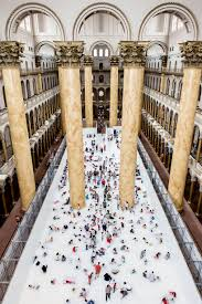 turns the national building museum into a 10 000 sq ft ball pit