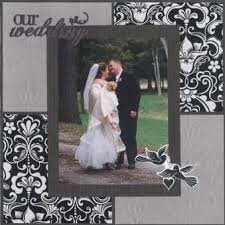 wedding scrapbook page wedding scrapbook letters from any co ordinating dsp can be used