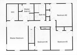 four bedroom floor plans 4 bedroom 2 baths and large master bedroom efficient use of
