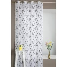 voilage chambre b rideau voilage multicolore effet motif ronds brodés gris blanc