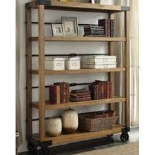 Carlyle Large Bookcase Industrial Bookcase Vintage Portable Bookshelf Display Shelving