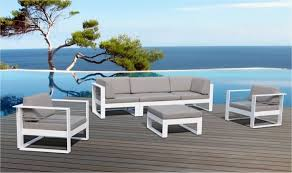 canapé de jardin design best salon de jardin design aluminium contemporary amazing house