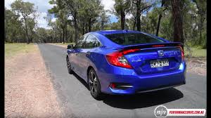 Civic Engine Size 2016 Honda Civic Rs Turbo 0 100km H U0026 Engine Sound Youtube