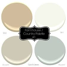 farmhouse or country style paint palette ideas with sherwin