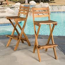 Atlantic Patio Furniture Amazon Com Atlantic Outdoor Folding Wood Bar Stools Set Of 2