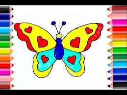 coloring pages butterfly insect drawing pages color kids