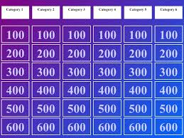 Jeopardy Template Jepordy Template