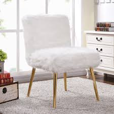 Pink Fur Chair Meridian Furniture 108fur Pink Tiffany Bench In Pink Fur On Gold