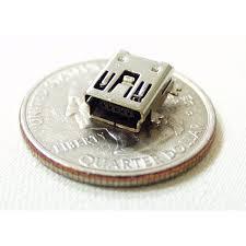 mini usb 5 pin smt female connector socket 5pcs soc012 2 00