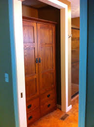 Removing Folding Closet Doors Removed Bi Fold Closet Doors And Fit A Used Craftsman Style