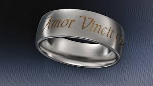 wedding band inscription personalized rings posey rings text engraved titanium rings
