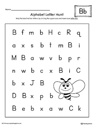 uppercase and lowercase letter b printable writing mat
