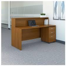 Oak Reception Desk Bbf Bush Series C Reception Desk Src096ausu Ships Free