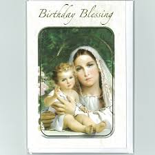 catholic birthday cards birthday blessing card our family catholic gifts