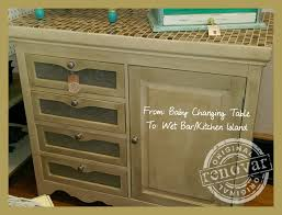from baby changing table to wet bar kitchen island