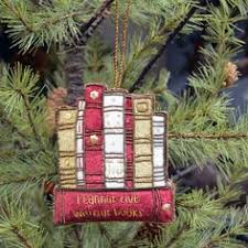 stack of books ornament the ornament for booklovers