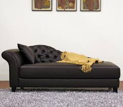 Ideas For Leather Chaise Lounge Design Decorating Modern Leather Chaise Lounge With Black Cushion Ideas