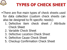 sheet types 3 project charter check sheet pareto analysis c e diagram matr