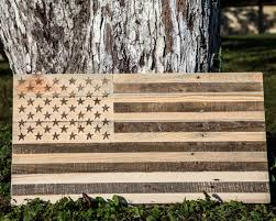 How To Display American Flag On Wall Large Usa Wood Wall Art Carved Retro American Flag Wooden