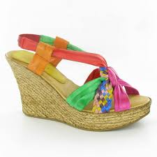 marila shoes 101 wedge sandals in multicoloured