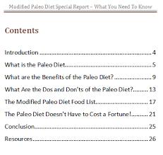 the paleo diet modified paleo diet report