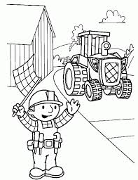 free printable bob builder coloring pages kids coloring