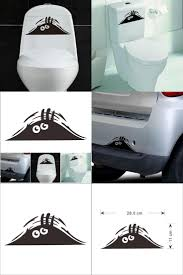 29367 best home decor images on pinterest visit to buy pvc 3d cartoon waterproof car wall stickers funny toilet stickers wc