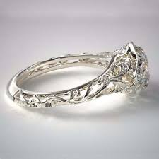 filigree engagement ring vintage filigree diamond engagement rings by allen