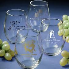 wine glass party favor custom stemless wine glass favors