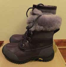ugg australia s purple adirondack boots 6 ugg womens blackberry wine leather adirondack ii boots