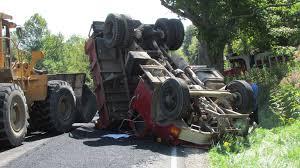 kenwood tractor update asphalt truck overturns harrison news herald